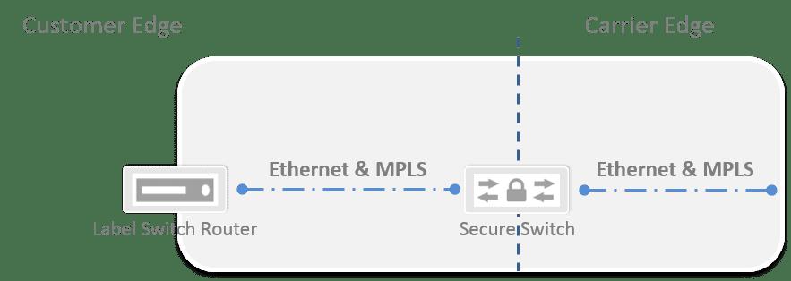 Verschlüsselung zwischen Carrier und Label Switch Router